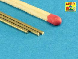 ABER BR12 Brass round rods ? 1,2mm length 245mm x 3 pcs.