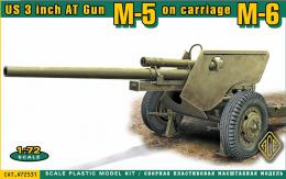 ACE 1/72 US 3 inch AT Gun M5 on carriage M6