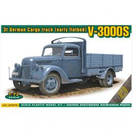 ACE 1/72 V3000S 3t German Cargo Truck (early flat