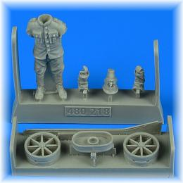 AEROBONUS 1/48 German or Autro-Hungarian WWI aircraft mechanic with handling tail skid hand cart