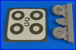 AIRES 1/32 Bu 131 wheels & paint masks w/o disc cover