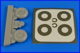 AIRES 1/32 Bu 131 wheels & paint masks with disc cover