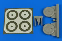 AIRES 1/32 I-153 Wheels & paint masks for ICM
