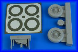 AIRES 1/32 A-1J Skyraider wheels & paint masks for TRU