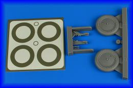 AIRES 1/32 I-16 wheels & paint masks for HAS/ICM/REV