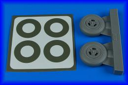 AIRES 1/32 Spitfire Mk.IX wheels for 3-spoke & paint masks