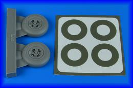 AIRES 1/32 Spitfire Mk.IX wheels (4-spoke) & paint masks