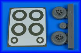 AIRES 1/32 Bf 108 wheels & paint masks - late for EDU