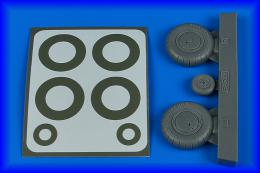 AIRES 1/32 Bf 108 wheels & paint masks - early for EDU