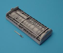 1/48 F-8 Engine duct bay (raised wing)