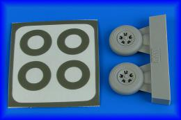 AIRES 1/48 Spitfire Mk.I wheels (5-Spoke) & paint masks