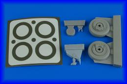 AIRES 1/48 A-1J Skyraider wheels & paint masks for TAM