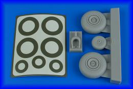 AIRES 1/48 Do-217 wheels & paint masks for ICM