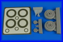 AIRES 1/48 A-1H Skyraider wheels & paint masks for TAM