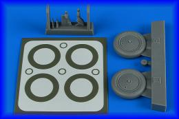 AIRES 1/48 I-16 wheels & paint masks for ICM