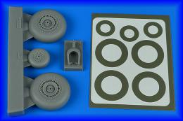 AIRES 1/48 Do 217N wheels & paint masks - early B for iCM