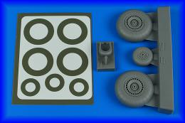 AIRES 1/48 Do 217N wheels & paint masks - late A for ICM