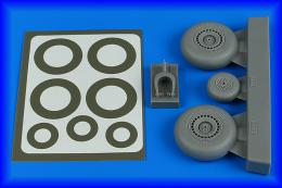 AIRES 1/48 Do 217N wheels & paint masks - late B for ICM