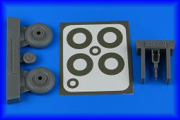 AIRES 1/48 Macchi Mc.202 early wheels&paint masks for HAS