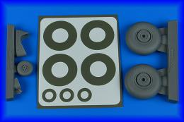 AIRES 1/48 Do 215 wheels & paint masks for ICM