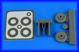 AIRES 1/48 Macchi Mc.202 late wheels&paint masks for HAS
