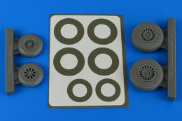 AIRES 1/48 A-26B/C (B-26B/C) Invader early wheels&p.mask