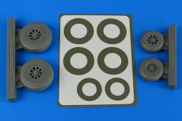 AIRES 1/48 A-26B/C (B-26B/C) Invader late wheels&p.mask