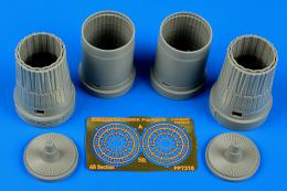 AIRES 1/72 Su-30MMK Flanker G exhaust nozzles (for Trumpeter)