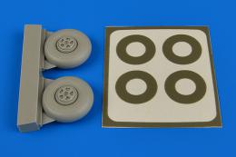 AIRES 1/72 Beaufighter wheels 5-spoke&paint masks (for Airfix)