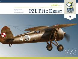 ARMA  HOBBY 1/72 PZL P.11c Kresy Model Kit