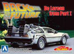 AOSHIMA 1/43 Pullback Dlorean from Movie I