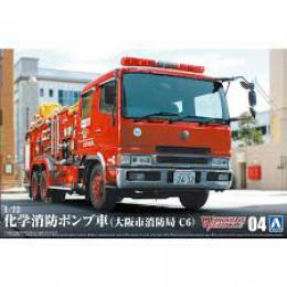 AOSHIMA 1/72 Chemical Fire Pumper Truck