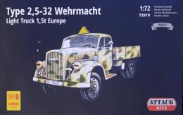 ATTACK 1/72 Type 2,5-32 Wehrmacht Light Truck 1,5t Europe