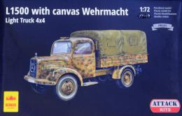 ATTACK 1/72 L1500 w/ canvas Wehrmacht Light Truck 4x4