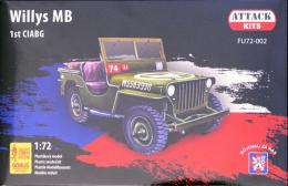 ATTACK 1/72 Willys MB 1st CIABG (incl. 3 fig.,PE&decals)