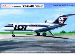 AZ MODEL 1/144 Yakovlev Yak-40 (LOT, Olympic Airways)