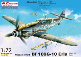 AZ MODEL 1/72 Messerschmitt Bf 109G-10 Erla early (3x camo)