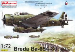 AZ MODEL 1/72 Breda Ba-65A-80  Nibbio  over Spain (3x camo)