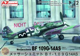 AZ MODEL 1/72 Bf 109G-14 AS Reich Defence