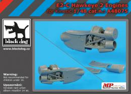 BLACKDOG 1/48 E-2 C Hawkeye - two engines  for KINETIC