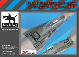 BLACKDOG 1/48 F-16C electronics 2 + cannon for TAM