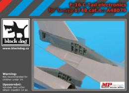 BLACKDOG 1/48 F-16C tail electronics for TAM