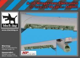 BLACKDOG 1/48 A-10 wings + rear electronics for ITA