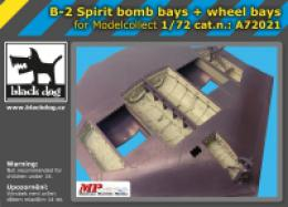 BLACKDOG 1/72 B-2 Spirit bobb & wheel bays  for MODELLC.