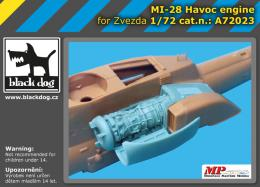 BLACKDOG 1/72 Mi 28 Havoc engine  for ZVEZDA