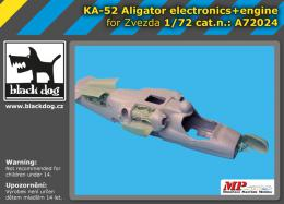 BLACKDOG 1/72 Ka -52 Aligator electronics + engine  for ZVEZDA