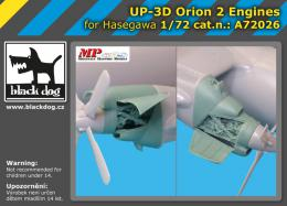 BLACKDOG 1/72 UP-3 D Orion - 2 engines  for HAS