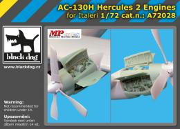 BLACKDOG 1/72 AC-130 H Hercules - 2 engines  for ITAL