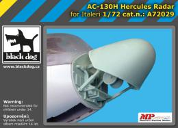 BLACKDOG 1/72 AC-130 H Hercules - radar  for ITAL