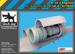BLACKDOG 1/72 A-10 - 2 engines  for ACAD